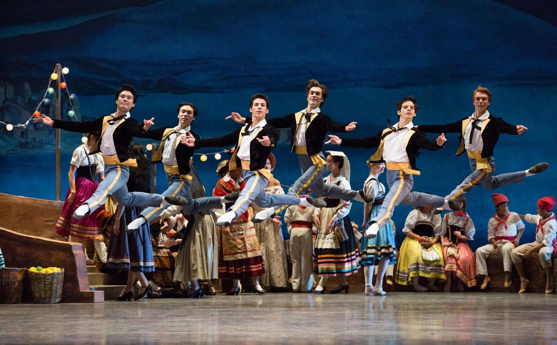 ballerini in una scena di Napoli o il Pescatore e la sua Sposa