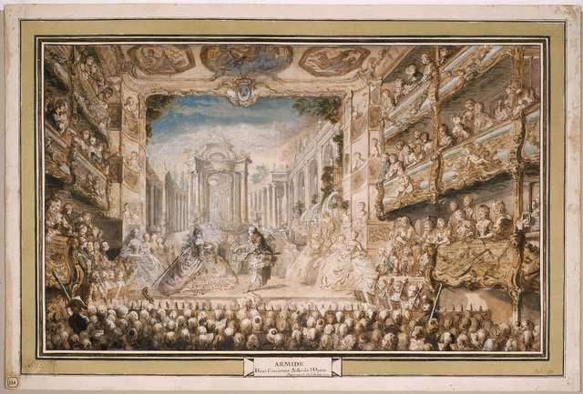 scena di Armide dipinta da Gabriel de Saint Aubin