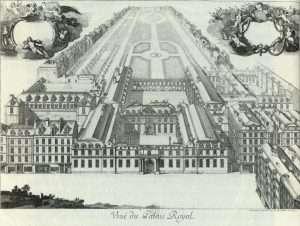 veduta prospettica del Palais-Royal