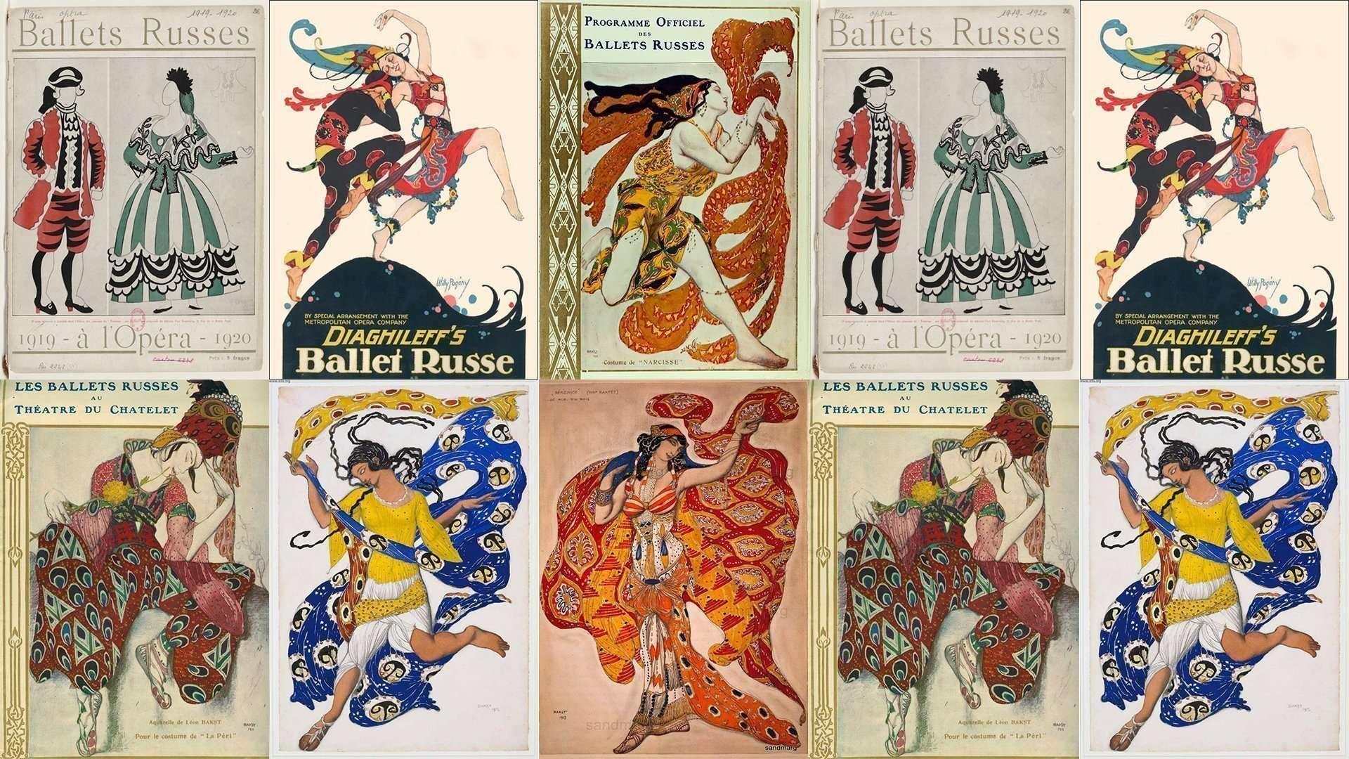 locandine spettacoli Balletti Russi