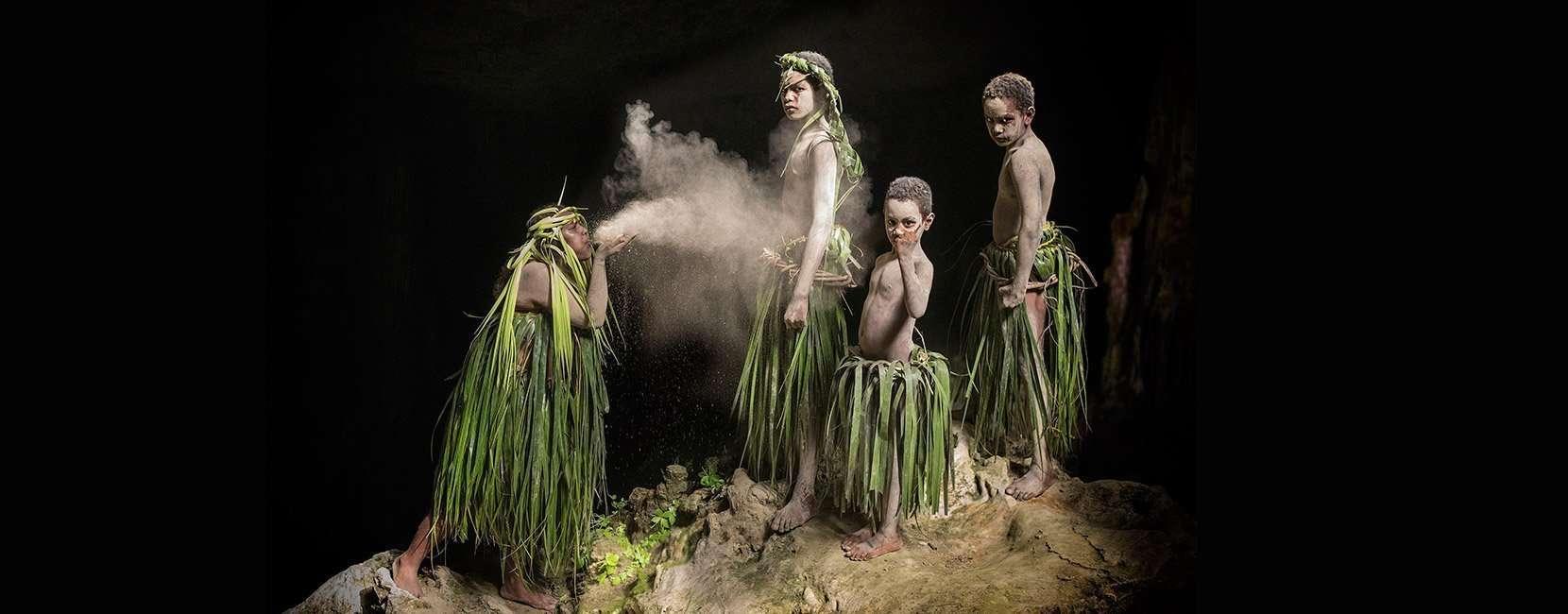 danza primitiva della Nuova Caledonia