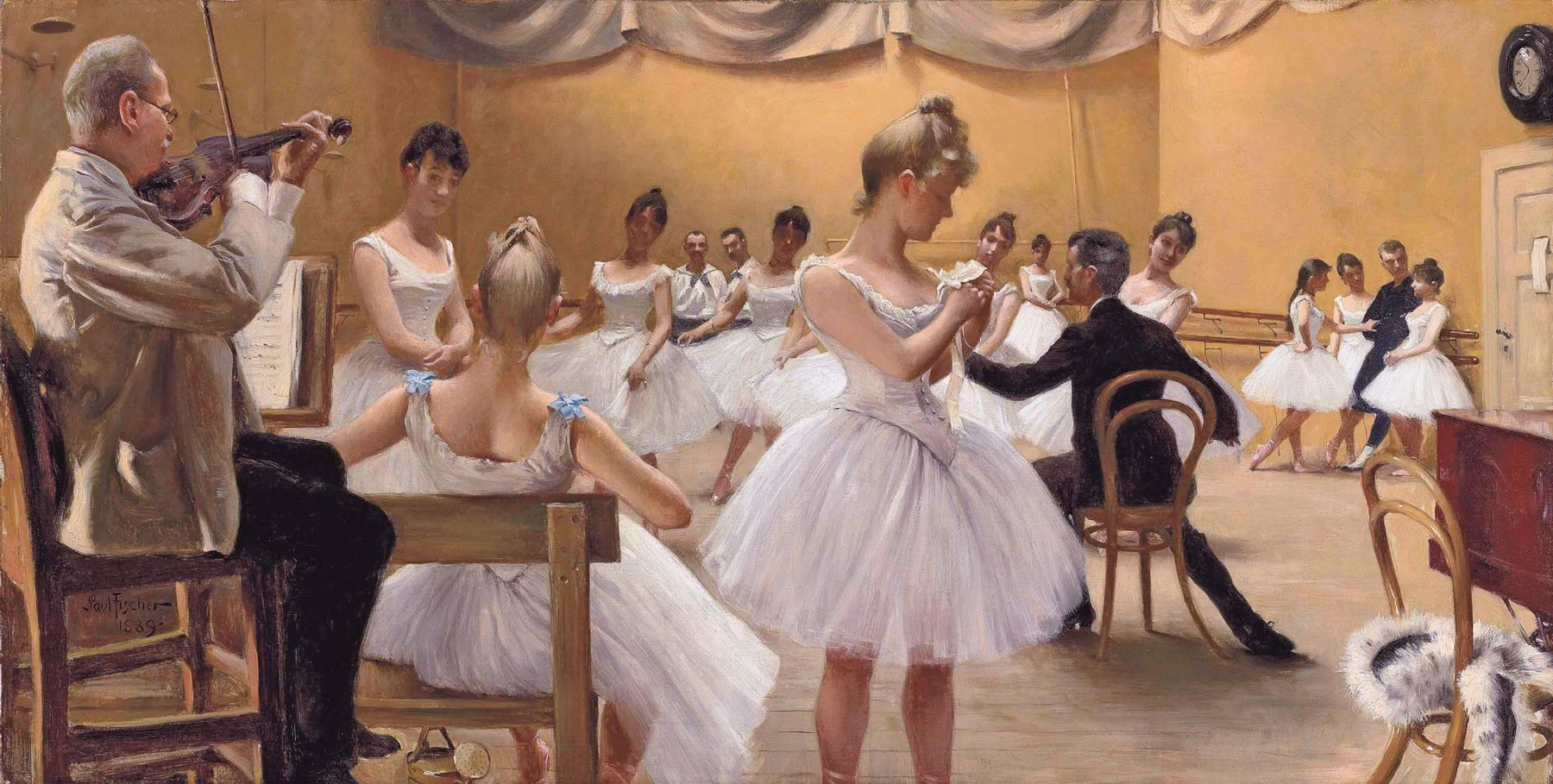 scena di scuola di balletto danese, dipinto