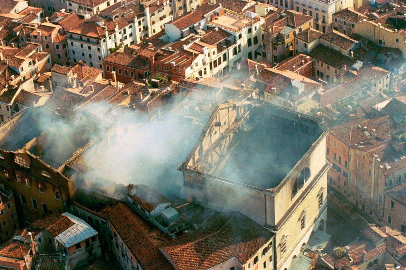 foto dell'incendio