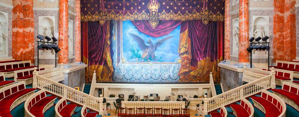 Interno dell'Hermitage Teatre a San Pietroburgo