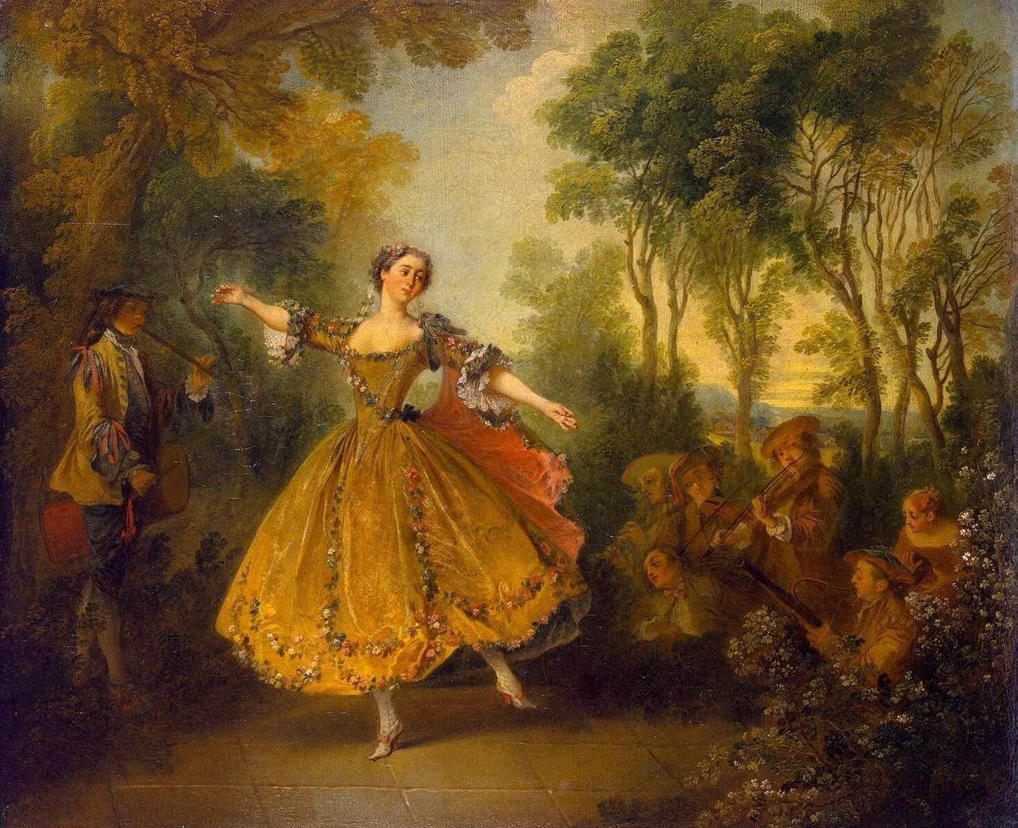 Dipinto della ballerina del Romanticismo
