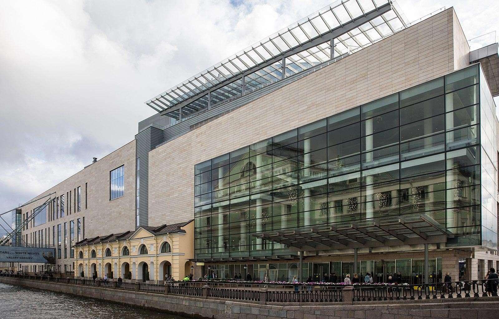 Teatro Mariinsky a San Pietroburgo, facciata esterna