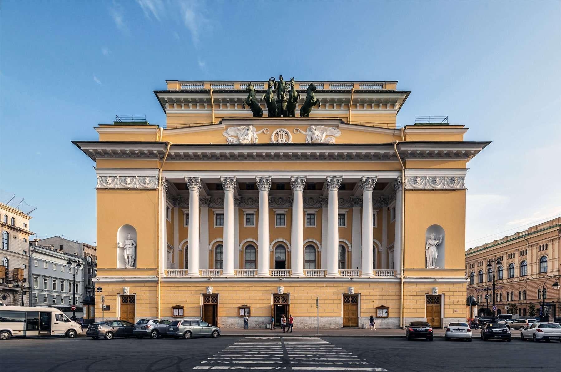 Teatro Alexandrinsky a San Pietroburgo, facciata esterna