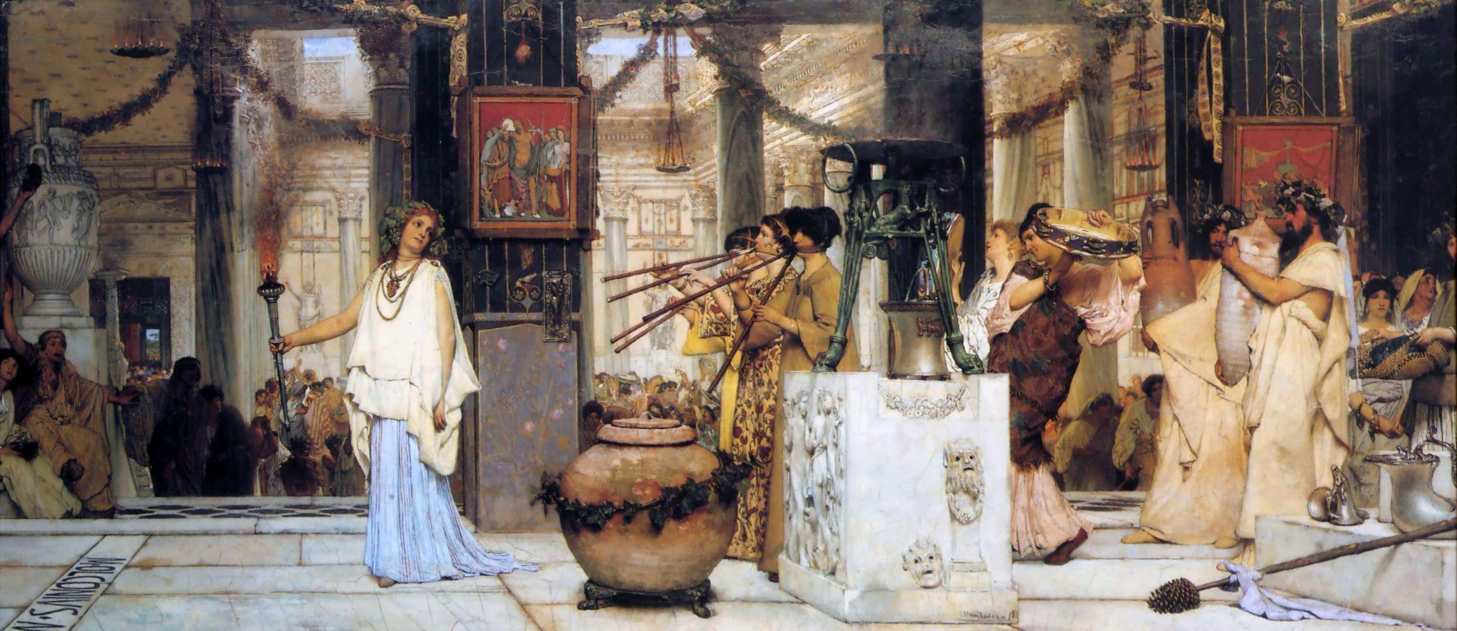 Suonatori nell'antica Roma