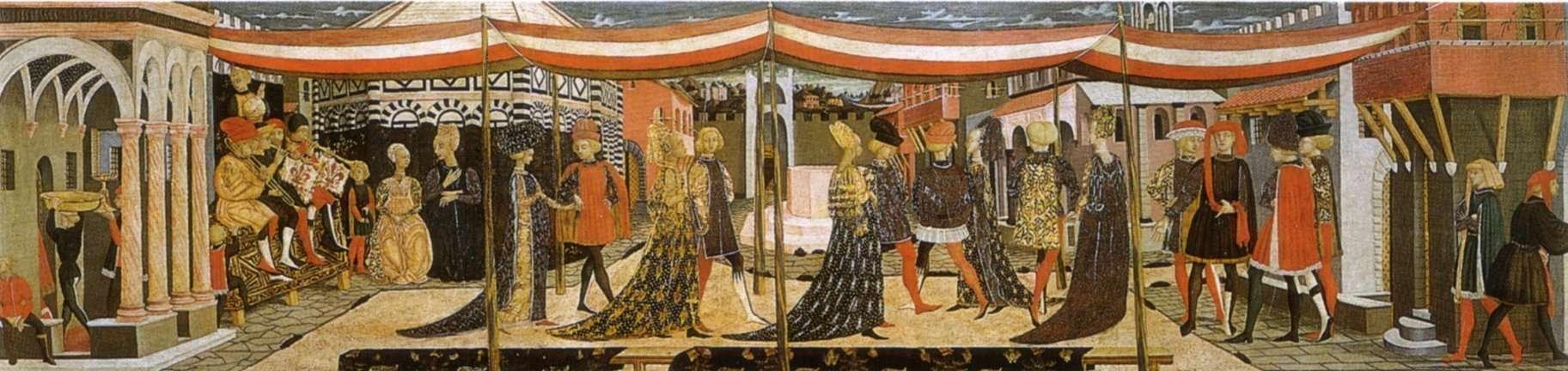 Raffigurazione corte nel Quattrocento