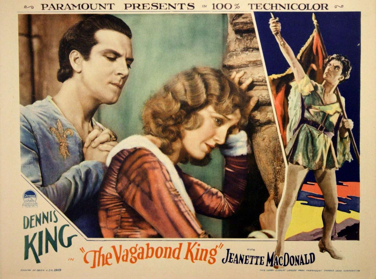 Locandina del musical The Vagabond King
