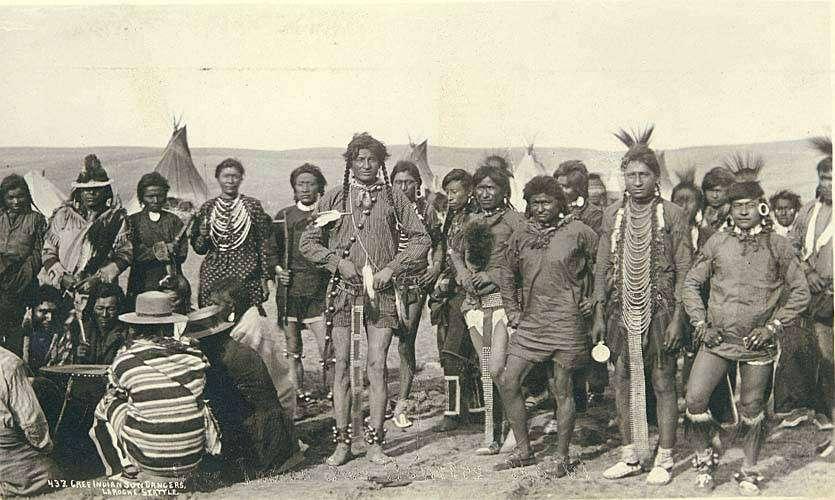 Gruppo di danzatori nativi nel 1893