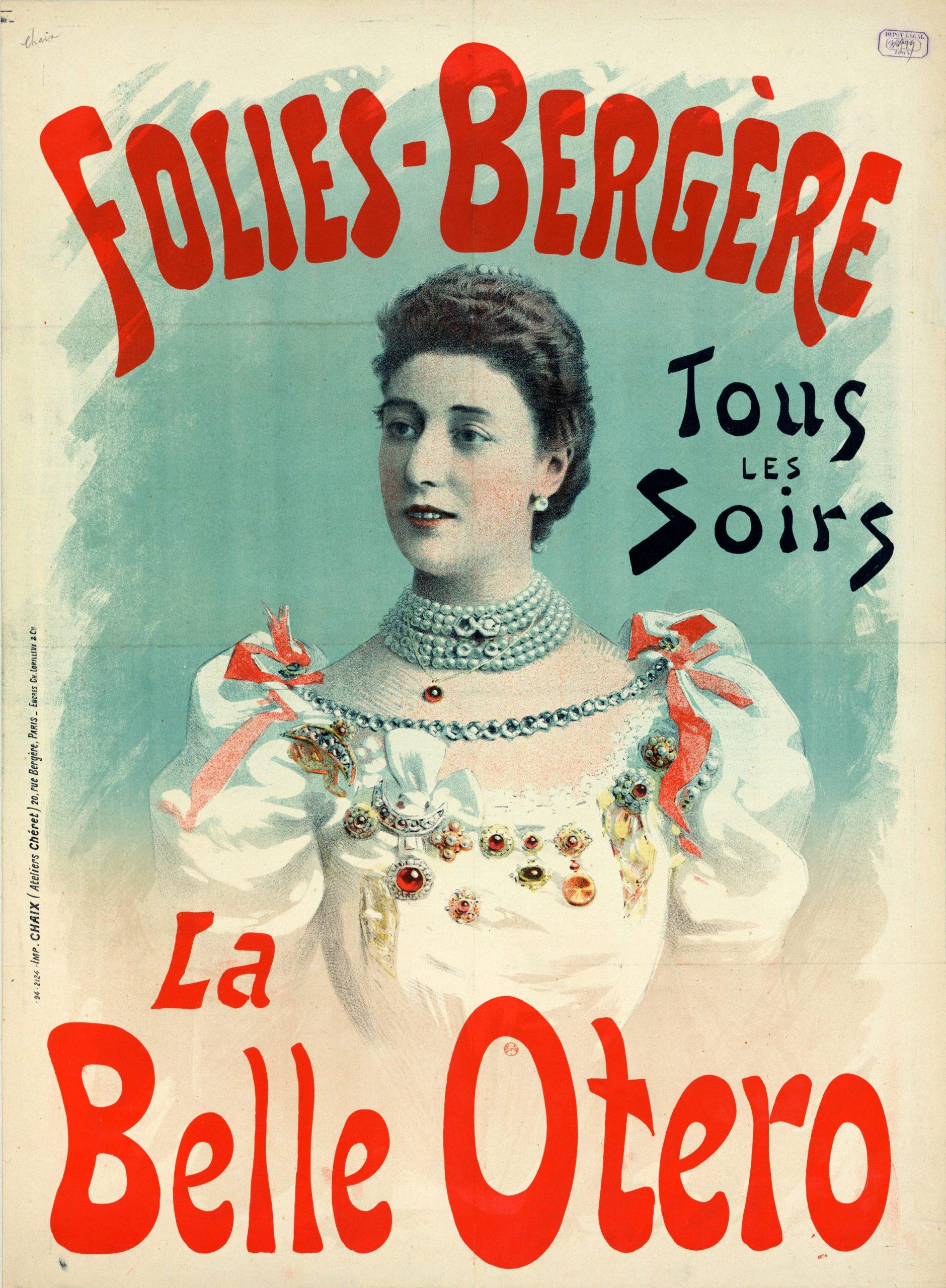 Locandina della Bella Otero alle Folies Bergère