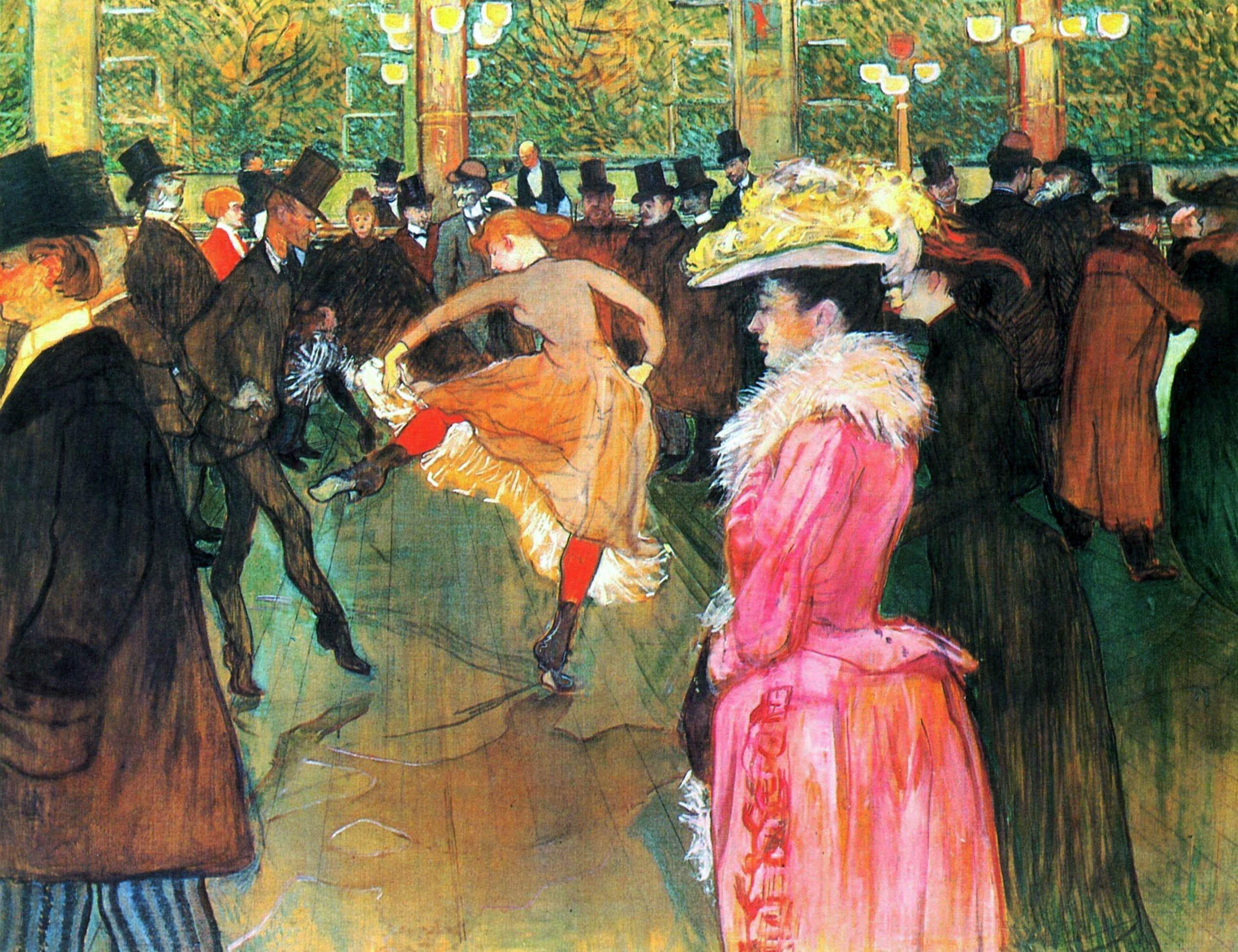 Ballo al Moulin Rouge di Henri de Toulouse-Lautrec