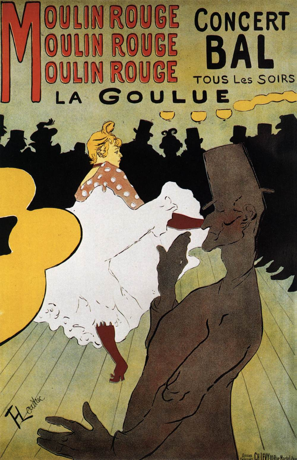 Manifesto Moulin Rouge Toulouse-Lautrec